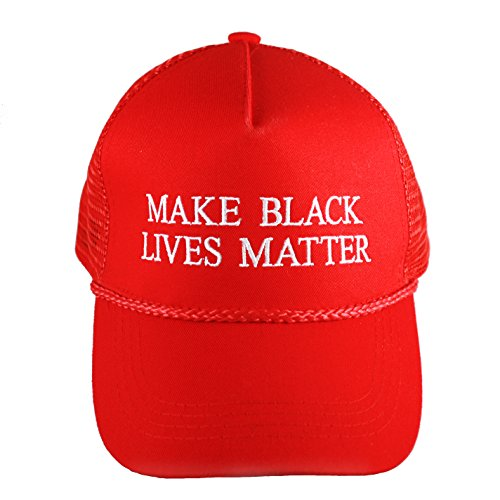 "Drumpf.WTF ""Make Black Lives Matter Anti-Trump, Pro-Justice Snapback Red Campaign Hat"