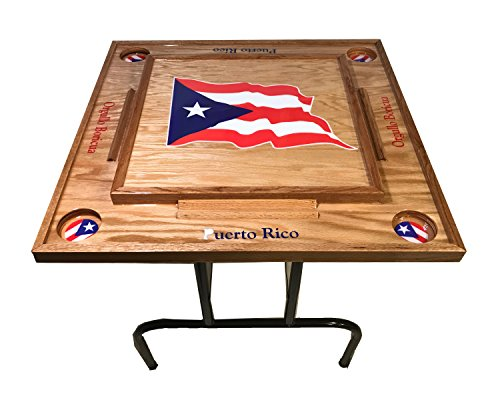 Puerto Rico Domino Table with the Flag