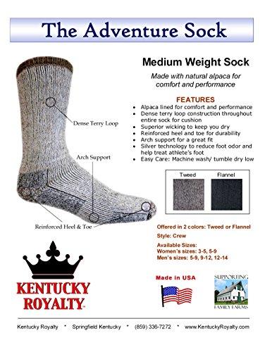 Survival Alpaca Socks-light gray-medium ()