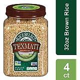 RiceSelect Texmati Brown Rice, Long Grain American Basmati, 32 oz Jars (Pack of 4)