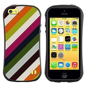 "Pulsar iFace Series Tpu silicona Carcasa Funda Case para Apple iPhone 5C , Líneas modernas Wallpaper Verde Blanco"""