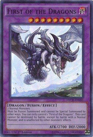 Yu-Gi-Oh  - First of the Dragons (NECH-EN050) - The New Challengers - 1st Edition - Super Rare B00P8D37JA Einzelkarten Gewinnen Sie das Lob der Kunden | Flagship-Store