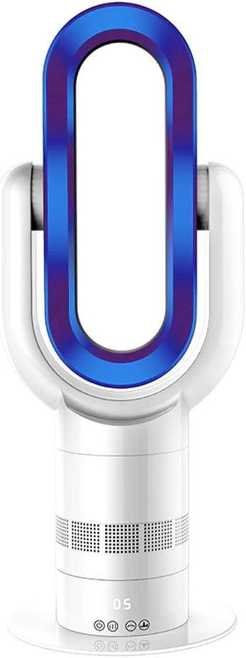 MIMI KING Ventilador sin aspas con Control Remoto, Ventilador de Flujo de Aire y Calentador eléctrico portátil 2 en 1, Sensor táctil, Ventilador Multifuncional de diseño silencioso,Blue
