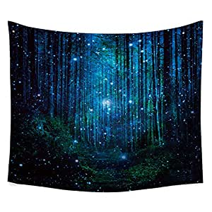 Glitter Forest Pattern Tapestry Wall Hanging