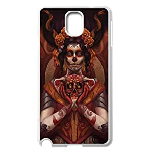 Diy Cool Sugar Skull Pattern Customized for samsung galaxy note 3 White Back Cover Phone Case