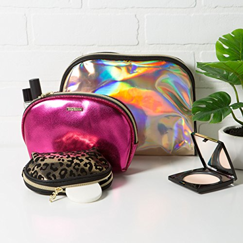 3efcacb8c Juicy Couture Cosmetic Makeup Bags: Compact Travel Toiletry Bag Set in Small,  Medium and