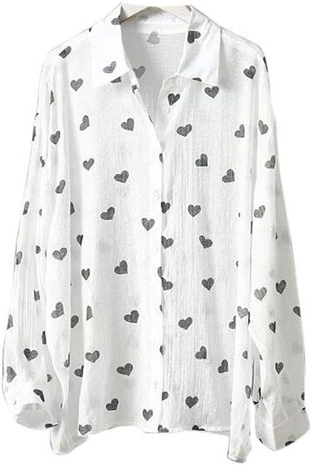 DAFREW Camisa de protección Solar Camisa Fina de Verano Camisa de Manga Larga Camisa Casual Holgada Camisa Playera Camiseta Elegante (Color : Negro, Tamaño : L): Amazon.es: Hogar