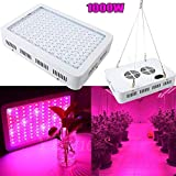 1000W Full Spectrum LED Grow Light, Hydro Plants Herbs Veg Fruits US Plug Growing Lamp for Indoor Cultivation, Garden Greenhouse