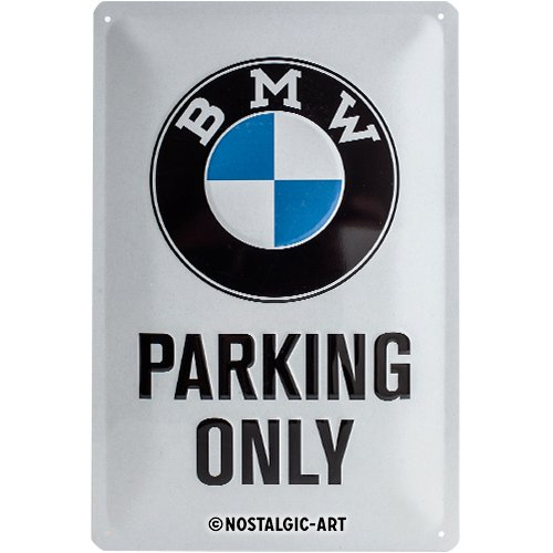 (BMW Parking Only Metal Plate 30 x 20 cm )