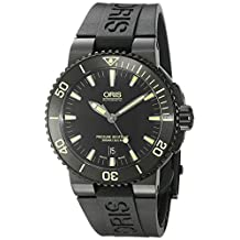 Oris Men's 'Aquis' Swiss Automatic Stainless Steel and Rubber Diving Watch, Black (Model: 73376534722RS)