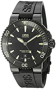 Oris Men's 'Aquis' Swiss Automatic Stainless Steel and Rubber Diving Watch, Color:Black (Model: 73376534722RS)