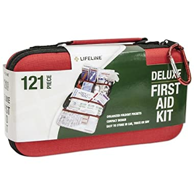Lifeline 121 Piece First Aid Kit (Red)