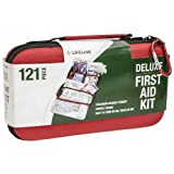 emergency backpack 4 person - Lifeline 121 Piece First Aid Kit (Red)