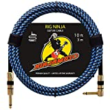 Rig Ninja Guitar Cable by NINJAMUSO, Quality Guitar Cords for Amp, Clean Tone, Low Noise Cables