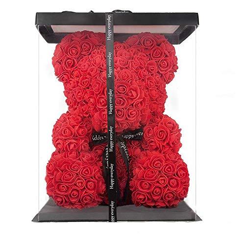 Rose Teddybär, Rose Spielzeug Kreative Blase Blumen 70cm rote Rose Blumen-Bär Geschenk for Frauen, Geburtstag, Valentinstag, Muttertag (Size : 23cm)