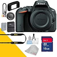 Nikon D5500 Camera Body by 5Avecamera and 16GB Sd Memory Card + Cleaning Cloth - International Version
