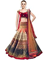 lehenga Choli (pramukh Fashion Women's Banglori Silk Multicolor Free Size Lehenga Chaniya Choli)