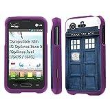 lg optimus fuel pouch - LG Optimus Zone 2 / Optimus Fuel [VS415 / L34C] Case, [NakedShield] [Purple] Total Armor Protection Case - [Blue Phone Box] for LG Optimus Zone 2 / Optimus Fuel [VS415 / L34C]