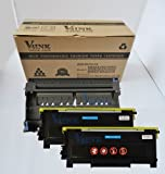 3 Packs:V4INK Brand New Compatible Brother TN350(2pcs) Toner Cartridges + DR350(1pcs) Compatible Drum Unit, Office Central