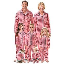 PajamaGram Matching Family Christmas Pajamas - Fleece, Red, Women's, M, 8-10