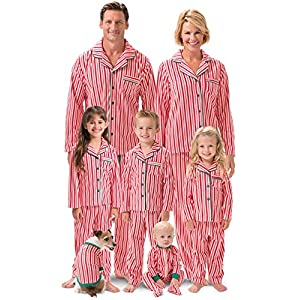 PajamaGram Matching Family Christmas Pajamas – Matching Christmas Pajamas, Red