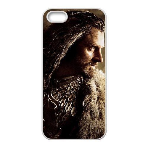 Thorin Oakenshield 002 coque iPhone 4 4S cellulaire cas coque de téléphone cas blanche couverture de téléphone portable EOKXLLNCD20407