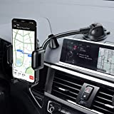 Mpow Car Phone Mount, Dashboard Windshield Car Phone Holder with Long Arm, Strong
