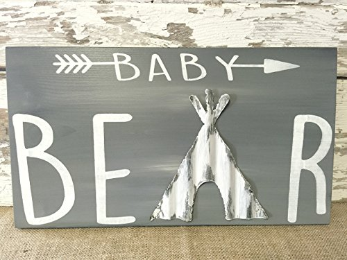 Baby Bear Rustic Nursery Decor Sign