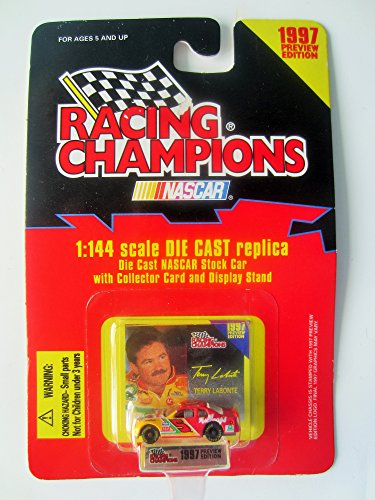 1997 Preview Edition Nascar Racing Champions Terry Labonte #5 1:144 Scale Die Cast Replica Stock Car with Collector Card and Display Stand ()