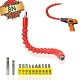 Enhanced Edition Flexible Extension Screwdriver Drill Bit Kit Adaptor w/Magnetic Connect Drive Shaft Tip | 1/4 in Power drill adapter + 1/4 in Extender Extend Drill Bit+Drill Bit Recept Reviews