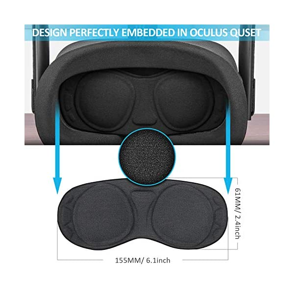 Face Silicone Cover Mask & Touch Controller Grip Cover & Knuckle Strap & Lens Protect Cover Set for Oculus Quest… 5