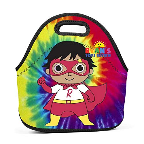 ESK712S Fashion R_yan_to_ys Insulated Neoprene Lunch Bag for Men Women and Kids Reusable Soft Lunch Box for Work and School Water Resistant