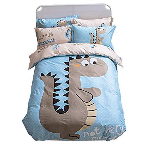Funda de tela de dibujos animados Kids ropa de cama de impresión Hoja Juego de funda de edredón de algodón 100% fundas de...