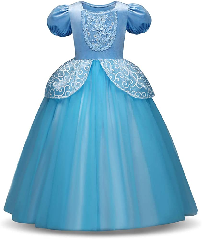 Vestido Fiesta Niña Vestidos para Niña Princesa Carnaval Falda de ...