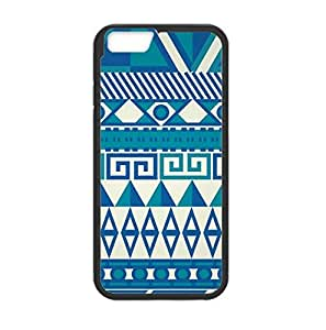 """Aztec Print in White and Blue Image Made for iPhone 6 (4.7"""") Only Plastic and TPU Laser Technology"""