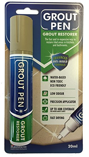 Grout Pen Large Beige - Ideal to Restore the Look of Tile Grout Lines by Rainbow Chalk Markers Ltd