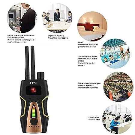 Plateado Detector de Se/ñal RF Detector de GPS Detector C/ámaras Ocultas Detector Microfonos Ocultos Detector de Microsensor para C/ámara Oculta Buscador de Dispositivos GSM