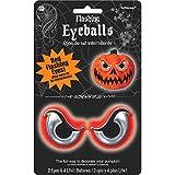 "Amscan Flashing Eyeballs Light Halloween Trick Or Treat Party Pumpkin Carving Decoration (2 Piece), White, 2"""