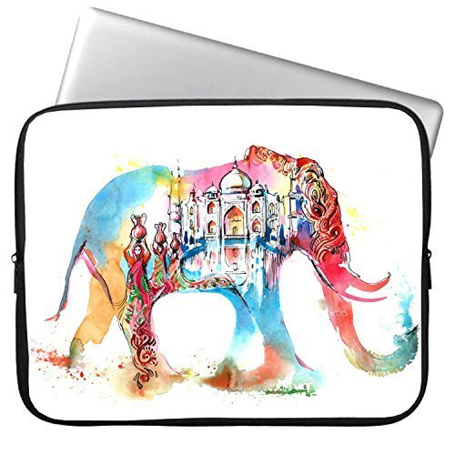 Elonbo Cute Elephant 11-11.6 Inch Waterproof Neoprene Sleeve Case Bag / Notebook Computer Case / Briefcase Carrying Bag / Ultrabook Laptop Bag Case / Pouch Cover for Apple MacBook Air 11.6-inch / for Acer C720 Chromebook/ Acer Aspire E3-111 / Asus X205TA / ASUS Q200E / HP Stream 11 Laptop / Samsung Chromebook XE303C12 / Dell Inspiron 11.6-Inch / Fujitsu / Lenovo / Sony / Toshiba (11 Inch Chromebook Case Picture)
