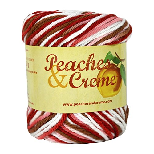 Peaches & Creme (Cream) Cotton Yarn Shades of Rust 2 oz. ()