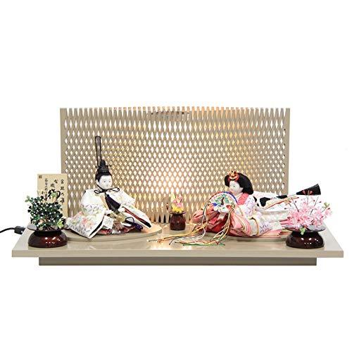 雛人形 親王平飾り【おぼこ雛】 [幅70cm] 小出松寿 市川伯英 頭 [193to1447a43] 雛祭り   B07MDLRMSP