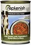 Replenish Canned Dog Food, Lamb Chunk W/ Vegtables & Rice (13.2-Ounce Cans) by Replenish Pet