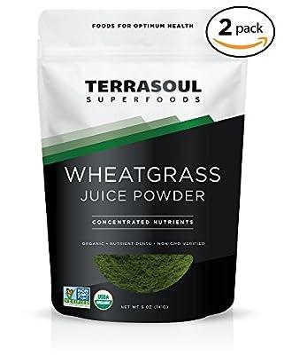 Terrasoul Superfoods Wheat Grass Juice Powder (Organic)