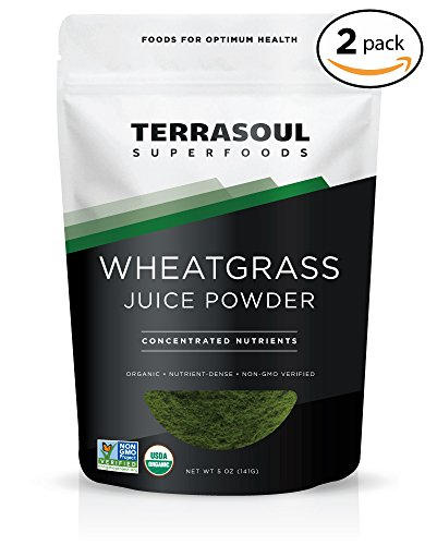Terrasoul Superfoods Organic Wheat Grass Juice Powder, 10 Ounces - USA Grown