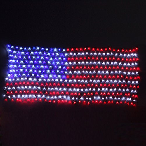 yuliang 65ft32ft led flag net lights of the united statesfor festival holidaydecorationgardenindoor and outdoor - Red White And Blue Christmas Lights