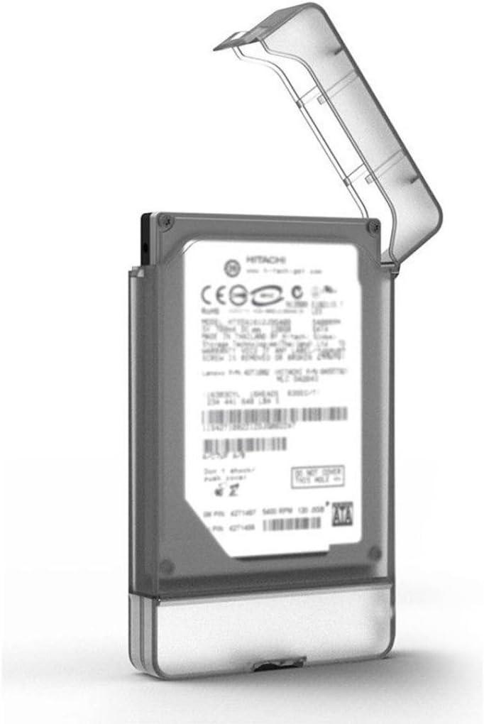 Gotd 2.5-Inch SATA to USB 3.0 Tool-free External Hard Drive Enclosure Case For SSD Support UASP SATA III Black
