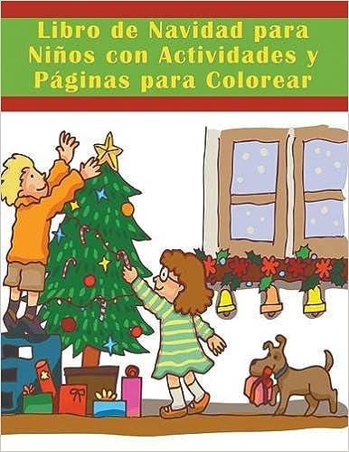 Libro de Navidad para Niños con Actividades y Páginas para