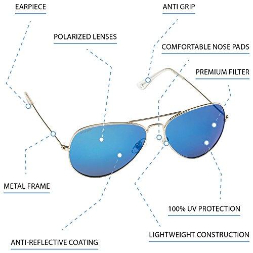 Cressi Qualité Lunettes Polarisées Différents UV Couleurs Nevada avec Lentilles Haute Gris de Dorado Protection Antireflet Soleil qqr5X