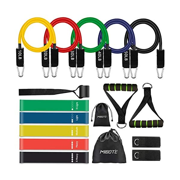 17 Pcs Resistance Bands Set Workout Bands