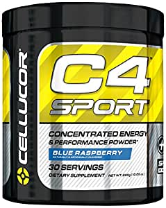 Cellucor C4 Sport Concentrated Energy and Performance Powder, Blue Raspberry, 285 Gram